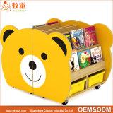 漫画デザイン幼稚園の木の家具、販売のための子供のおもちゃのキャビネット