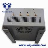 De Alta Potencia ajustable impermeable CDMA GSM 3G 4G WiFi GPS Personalizar la señal de frecuencia Jammer Teléfono