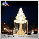 Lichte Fonteinen van het Motief van de Kleur van de LEIDENE Decoratie van Kerstmis de Witte 3D