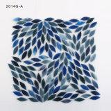 Mattonelle di mosaico blu naturali all'ingrosso di vetro macchiato della parete di arte di colore