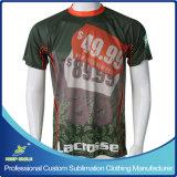 Atirador de Lacrosse de Menino Sublimação personalizado com manga curta