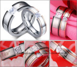 Квадратный камень в центре камня ювелирные изделия кольцо включения свадебные кольца