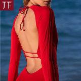 Красный цвет девушок одеяния фабрики ODM/OEM Nylon один Swimwear части
