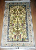 Золотой шелк ковры ручной Knotted Шелковый ковер 92cmx153см