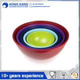 bacia de sopa Multicolor do recipiente de alimento da melamina 6/10inch