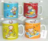 031-4166 Porzellan-Becher-Schalen-Kind-Entwurfs-Kind-Thema