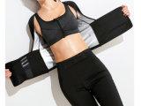 As mulheres exercem barriga de manga curta apertado Ginásio suor executando cintura fina queimar gordura sudorese apertado Burst com excesso de camisola