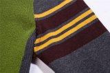 V-Neck Assorted Colors Knit Men Cardigan mit Zip