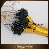 Extensões do cabelo do anel de Remy do russo por atacado micro