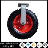 Rotella di gomma pneumatica resistente della macchina per colata continua della parte girevole 10 pollici
