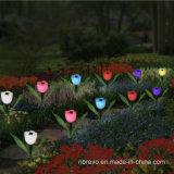 Alimentada a energia solar colorido jardim Luz Flor (RS101)