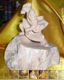 Hölzerne Skulptur