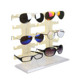 Les ventes en gros ont personnalisé la crémaillère d'étalage acrylique de lunettes de soleil de double rangée