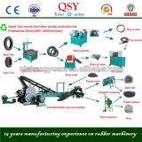 Semi automático para o pneu Waste que recicl à linha de borracha do pó