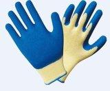 10のゲージの乳液の上塗を施してある綿かポリエステル編む手袋(LC-001)