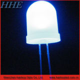 Blanco de 10mm redondo con diodo LED de la brida (CE&RoHS)