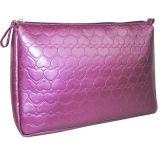 FlQuiltedの化粧品袋、平野および純粋な色のoraの印刷物の化粧品袋(KM-A665L。 YF010)