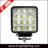 E-MARK 4 Inch 48W Square Epistar Offroad Truck Tractors LED Work Lights