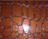 Jacaré de tecido com relevo de bolsas de couro de PVC