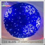Indicatore luminoso esterno della sfera di motivo della decorazione di natale del PVC LED della ghirlanda di festa