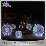 Luzes da esfera do motivo do Natal do diodo emissor de luz 3D da fábrica da decoração do feriado