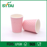 4oz 2016高品質の熱い販売のふたが付いている習慣によって印刷されるさざ波の壁ペーパーコーヒーカップ