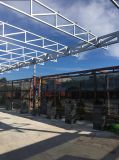Telhado dos pavilhões da construção de aço com painel de PIR