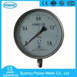 plein manomètre sec d'indicateur de pression d'acier inoxydable de 100mm