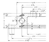 Rothe Erde는 아무도 설치한다 플랜지가 붙은 돌린 반지 방위 (230.20.0400.503)를