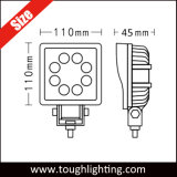 """DC 9-32V 4 """" 24W 플러드 반점 광속 사각 LED 트랙터 일 빛"""