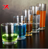 Tazza di vetro dell'acqua della tazza di vetro trasparente rotonda del cilindro