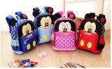 2017 Mickey Dibujos animados los niños Mochilas/jardín de infantes para niños mochila/Kid mochilas y bolsos para chicos y chicas Envío gratis