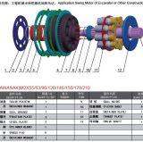 M2X 시리즈 M2X63 유압 그네 모터는 굴착기 Ex200 - 2/5를 분해한다
