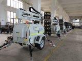 Gisement de pétrole automatique compressible hydraulique 9m de gaz de carrière d'exploitation de tour d'éclairage LED de moteur servo de pattes de lumière d'inondation de tour d'éclairage de Pôle