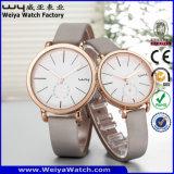 Il cinturino di cuoio di vigilanza su ordinazione di marchio coppia gli orologi di modo (Wy-088GC)