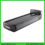 Batterie de crémaillère d'arrière de batterie d'ion de lithium d'OEM/ODM 24V 36V 48V 10ah pour l'E-Vélo