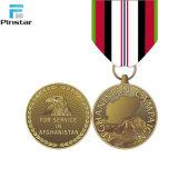 Золотая медаль 1991-1945 мировой войны коммеморативная с тесемкой