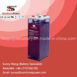 2V2000ah OPZS liquide de batterie , OPS inondées tubulaires Batteries avec système à valve automatique