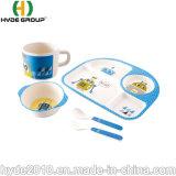 Qualität Eco Composable Bambusfaser-Baby-gesetztes Kind-Cup-Filterglocke-Essgeschirr-Set