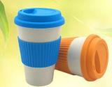 Taza de café de bambú biodegradable al por mayor de la fibra/taza (YK-BC4092)