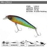 Pr-L3512 personnalisé suspendant l'attrait en plastique de pêche de vairon dur