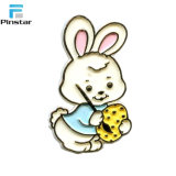 Métal jaune Émail adorable lapin personnalisé Badge