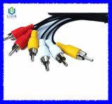 3RCA het Mannetje van uitstekende kwaliteit aan Mannelijke AudioVideo 3 Kabel RCA