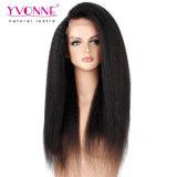 Peluca recta rizada brasileña del frente del cordón del pelo humano de Yvonne el 100%