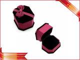 Caja de embalaje del terciopelo de la joyería del rectángulo de la manera del regalo determinado de lujo de la joyería