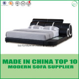 余暇様式のModenの実質の革ダブル・ベッド