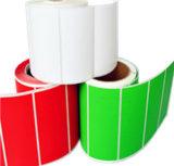 Etiqueta engomada de encargo del pegamento del código de barras de la impresora de la impresión de la escritura de la etiqueta del papel de imprenta