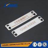 Plaque de borne de collier de câble d'acier inoxydable