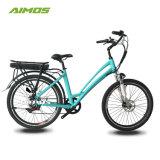 26*1,95 City bicicleta eléctrica para a mulher com engrenagem de 3 interna