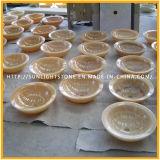 De natuurlijke Ronde Gele Marmeren Gootsteen van het Onyx voor Keuken en Badkamers